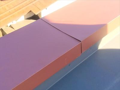 ガルバリウム鋼板製の笠木
