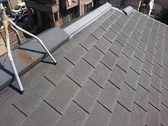 スレート葺きの屋根は今回が初めてのメンテナンスです