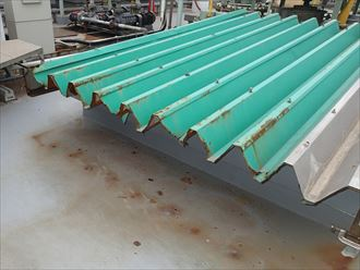 折板屋根の経年劣化