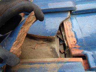瓦の下の杉皮による防水状況