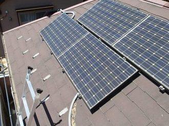 太陽光パネルが設置されている屋根