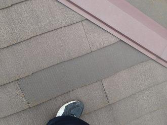 一部新しいスレート屋根材になっている