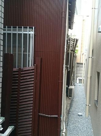 狭小地での外壁塗装