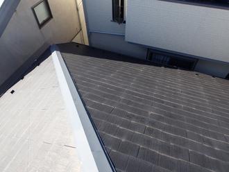 屋根カバー工法前のパミールの屋根