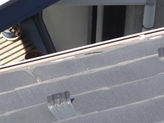 屋根カバー工法で解体する箇所、雪止め