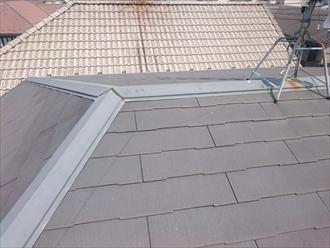 劣化し始めたスレート葺き屋根