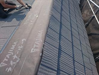 エコグラーニで屋根カバー工事