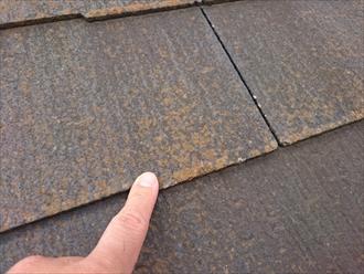 西東京市中町でヒビが出始めたスレート葺き屋根を塗装工事でメンテナンス