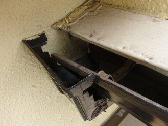軒樋と集水器の間に隙間
