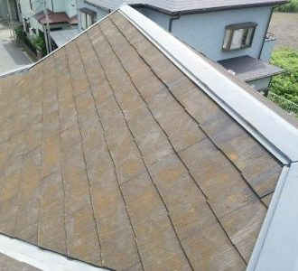 スレート屋根のサビ