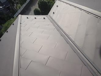 劣化の見られない金属屋根