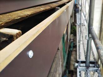 鼻隠しから軒天側をGL鋼板で覆う
