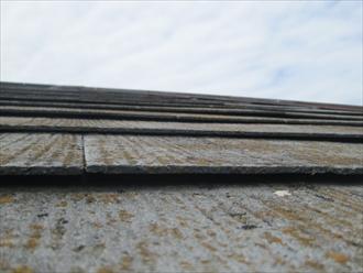 国立市泉で塗装してあるスレート屋根をガルバリウム鋼板で屋根カバー工事します