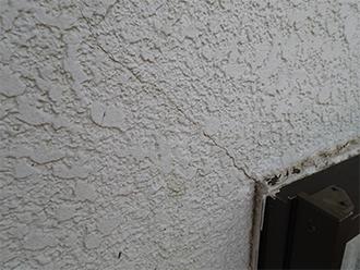 ひび割れ(クラック)のある外壁
