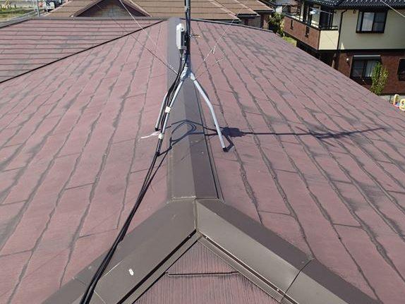 スレート屋根雨染み