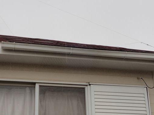 二階の雨樋のそり