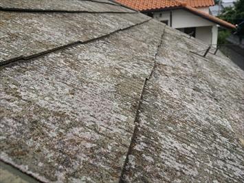 初メンテナンスのスレート屋根