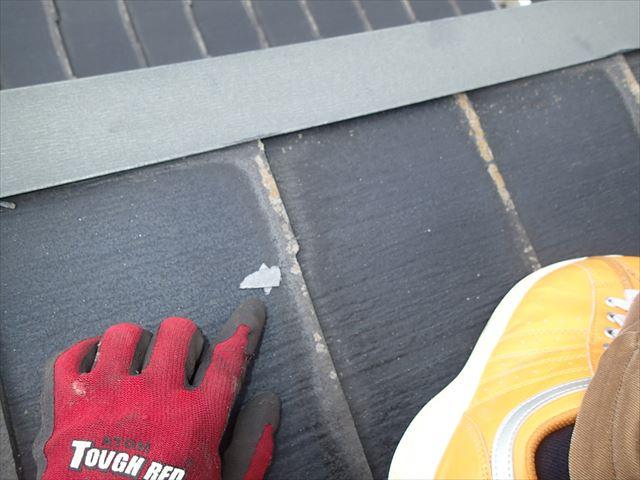 屋根にあったパミールのかけら