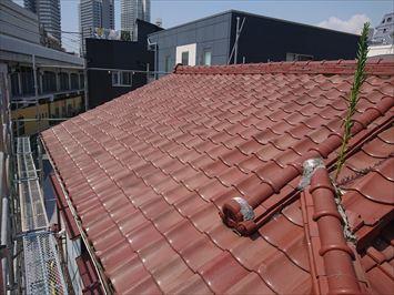 施工前屋根平場