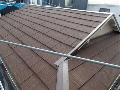 エコグラーニに葺き替えた屋根