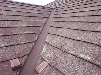 ボロボロになったパミール葺き屋根
