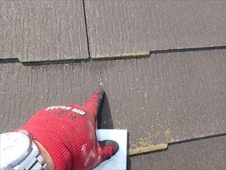 板橋区中台でコロニアル屋根調査、雹の跡を発見しました