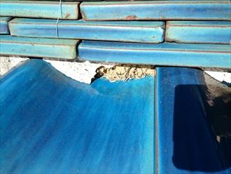 八王子市絹ヶ丘で下地が傷んだ瓦葺き屋根を葺き直し工事でメンテナンス