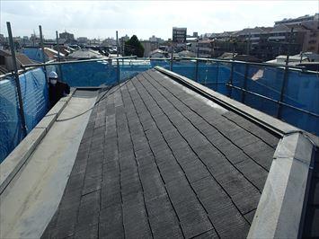 南側のスレート屋根