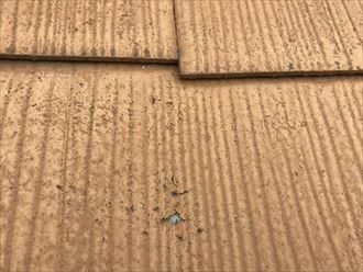 表面の剥離したスレート屋根
