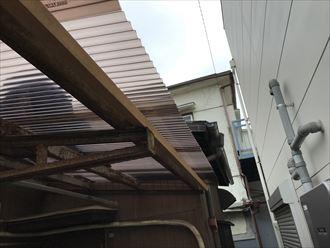 雨樋取付の為下地の補強