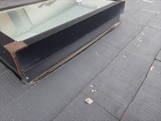 天窓から雨漏りが発生