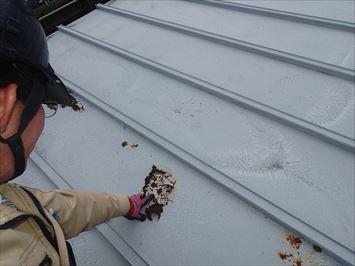 穴のあいた屋根