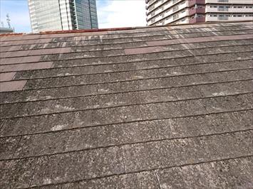 屋根の棟板金が無くなっています