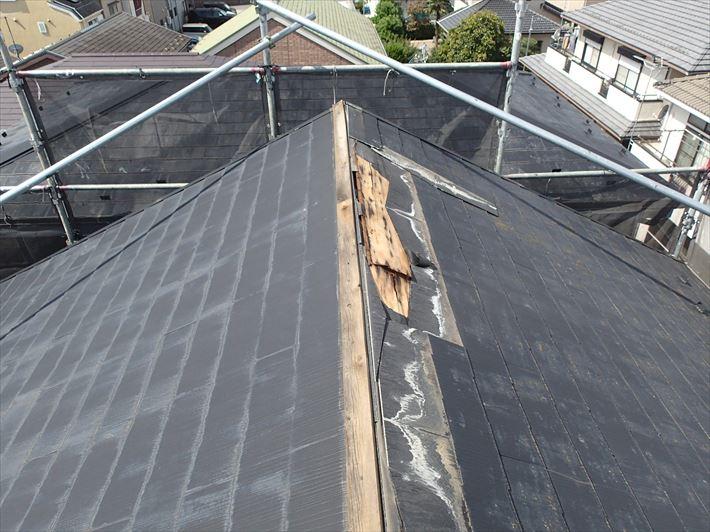 貫板もろとも飛ばされた屋根