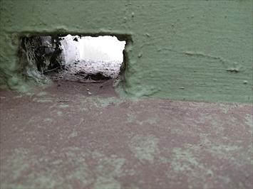 バルコニーの排水口回りは原因になりやすい部分です