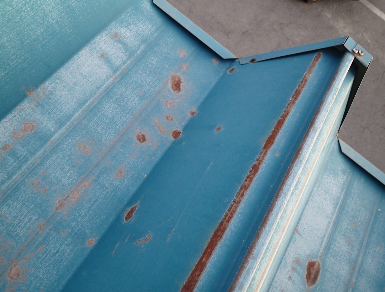 折板屋根の発錆箇所