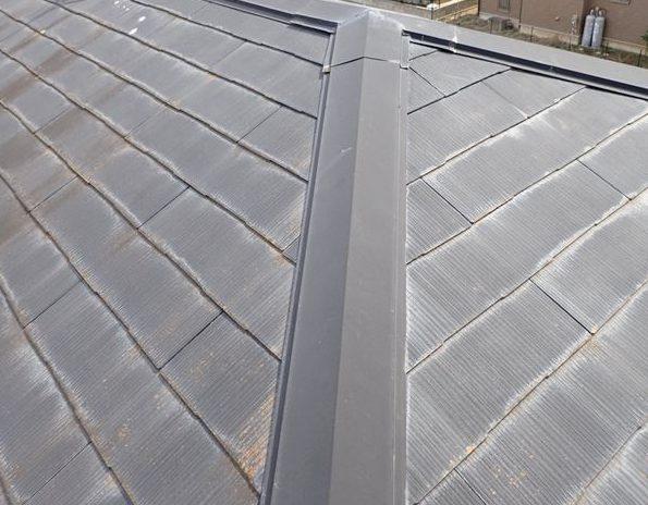 剥げた屋根塗装