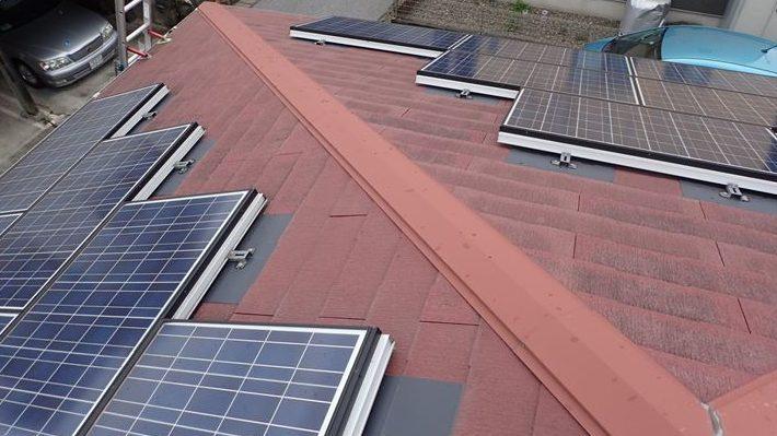 太陽光パネル設置スレート屋根