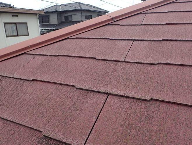 スレート屋根塗装劣化
