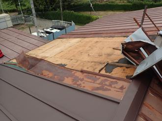 剥がれた瓦棒屋根