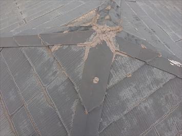 台風15号で飛ばされた方形屋根の棟板金