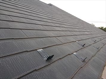 以前に塗装工事をおこなった事があるスレート葺き屋根