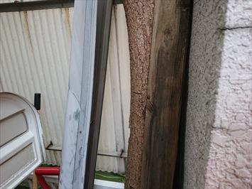 屋根から落ちてきた棟板金