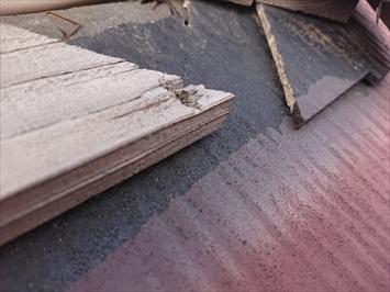 横から釘を打った時に木に固定されていなかった棟板金
