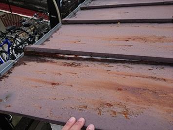 三鷹市中原で台風の強風でトタン屋根が捲れたので火災保険で直します