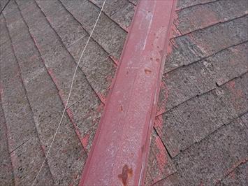 棟板金は塗装をした跡があります