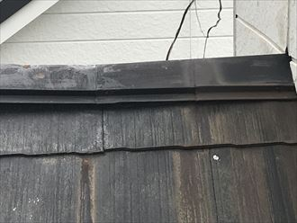 棟板金の変形