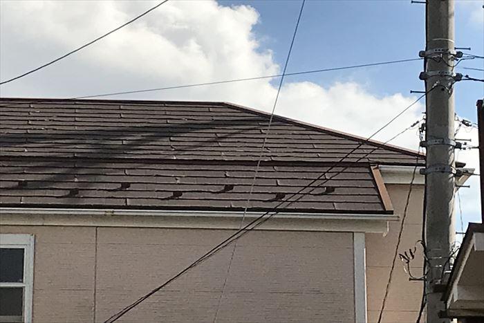 パミールの屋根の剥離と捲れ