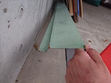 日野市三沢で台風の強風によって飛ばされた棟板金を火災保険で直します