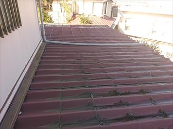 横葺きのかわらUには屋根の勾配が緩すぎます